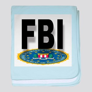 FBI Seal With Text baby blanket