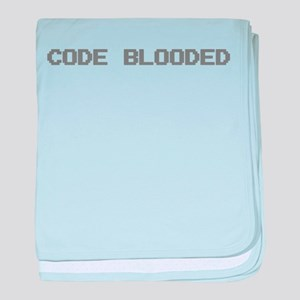 Code Blooded baby blanket