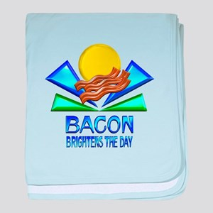 Bacon Brightens the Day baby blanket