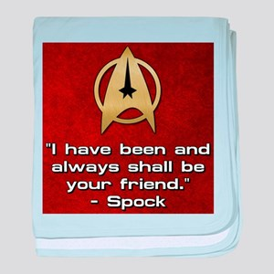 SPOCK YOUR FRIEND baby blanket