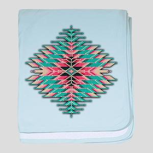 Southwest Native Style Sunburst baby blanket