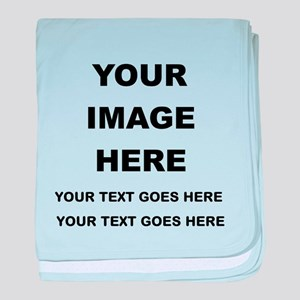 Your Photo and Text Here T Shirt baby blanket