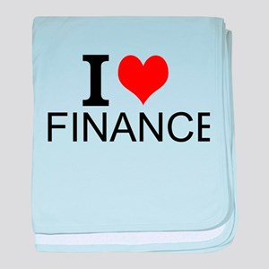 I Love Finance baby blanket