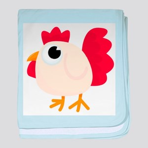 Funny White Chicken baby blanket