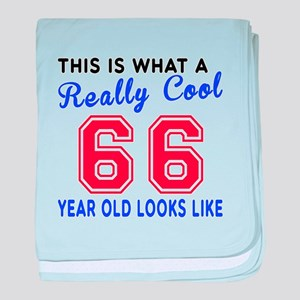 Really Cool 66 Birthday Designs baby blanket