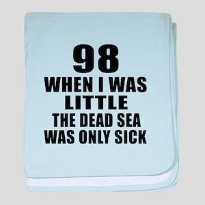 98 When I Was Little Birthday baby blanket