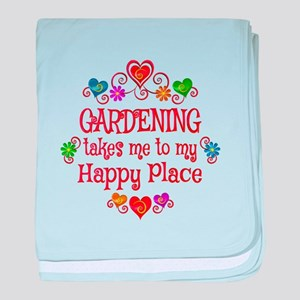 Gardening Happy Place baby blanket