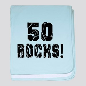 50 Rocks Birthday Designs baby blanket
