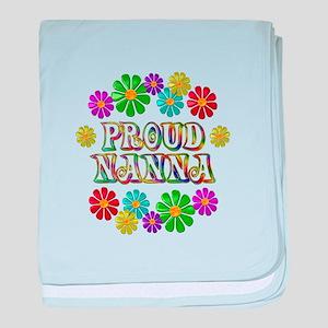 Proud Nanna baby blanket