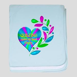 Quilting Happy Heart baby blanket