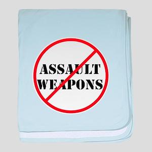 No assault weapons, gun control baby blanket
