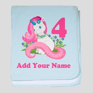 Unicorn Birthday baby blanket