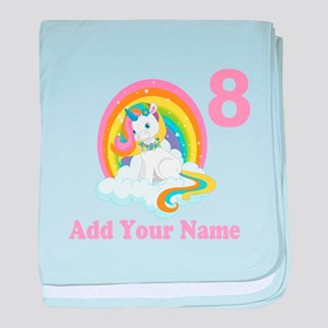 Rainbow Unicorn Birthday baby blanket