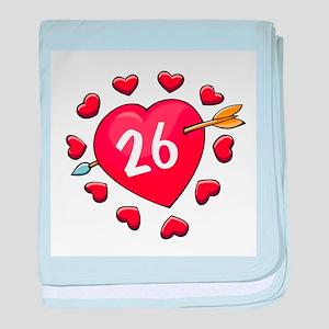 26th Valentine baby blanket