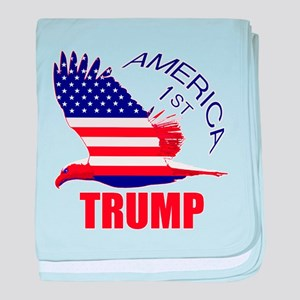 Trump America First Eagle baby blanket