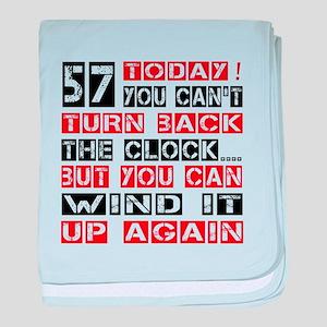 57 Turn Back Birthday Designs baby blanket