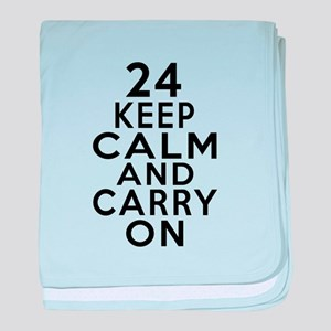 24 Keep Calm And Carry On Birthday baby blanket
