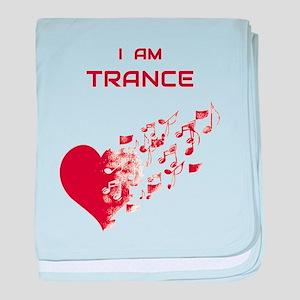 I am Trance Heart baby blanket
