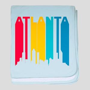 Retro Atlanta Skyline baby blanket