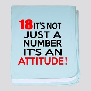 18 It Is Not Just a Number Birthday D baby blanket