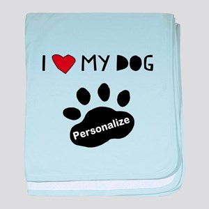 Personalized Dog baby blanket