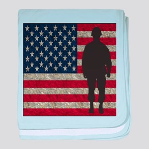 USFlag Soldier baby blanket