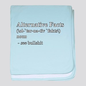 Alternative Facts Definition - White baby blanket
