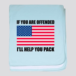 Offended USA Flag Help Pack baby blanket