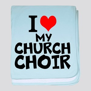 I Love My Church Choir baby blanket
