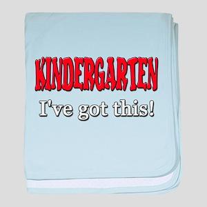 Kindergarten I've Got This baby blanket