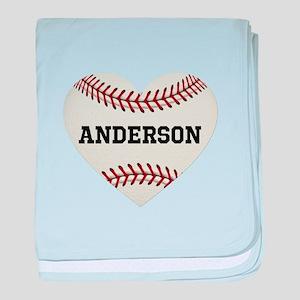 Baseball Love Personalized baby blanket