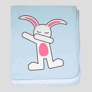 Dabbing Bunny baby blanket