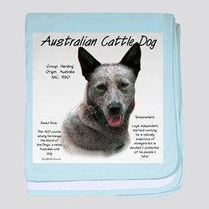 Cattle Dog (blue) baby blanket
