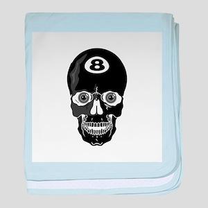 Eight Ball (8 Ball) Skull Infant Blanket