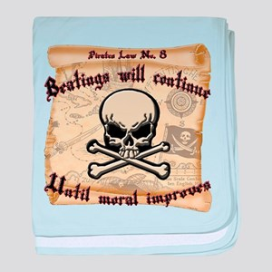 Pirates Law #8 baby blanket