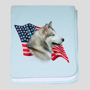 AlaskanMalFlag baby blanket