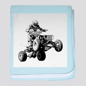 ATV Racing baby blanket