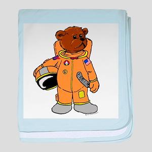 Buzz the Astronaut Bear baby blanket