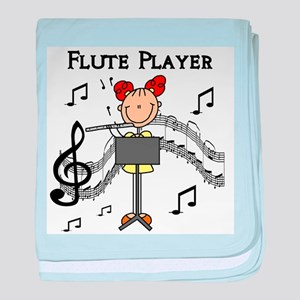 Flute Player baby blanket
