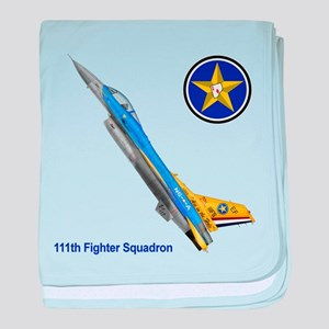 111th Fighter Squadron baby blanket
