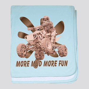 More Mud More Fun on an ATV baby blanket