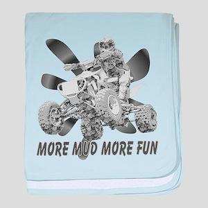 More Mud More Fun on an ATV ( baby blanket