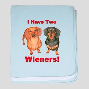 Two Wieners baby blanket