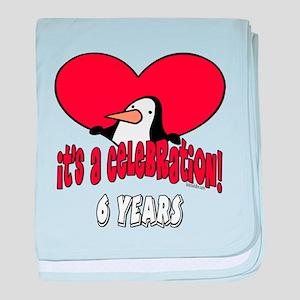 6th Celebration Infant Blanket