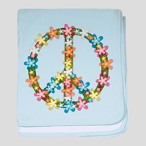 Peace Flowers baby blanket
