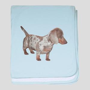 Speckled Dachshund Dog baby blanket