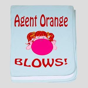 Agent Orange Blows! baby blanket