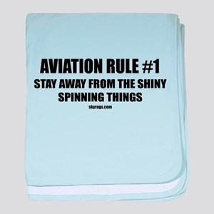 AVIATION RULE #1 baby blanket