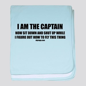 I AM THE CAPTAIN baby blanket