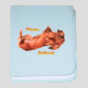 Bellyrub Doxie baby blanket